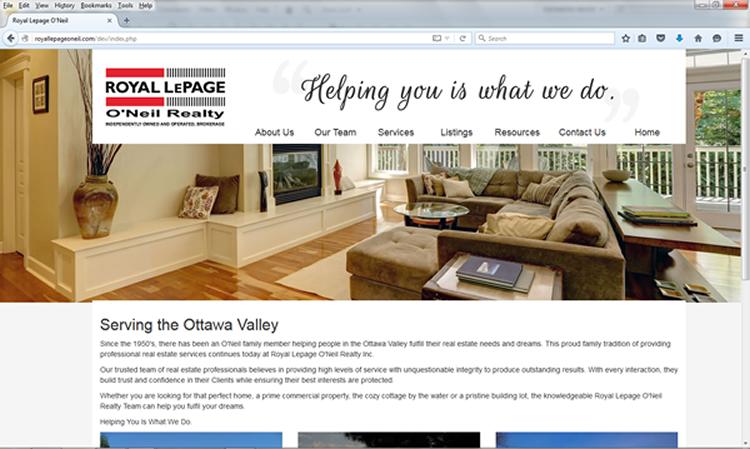 Royal LePage O`Neil Website Screenshot