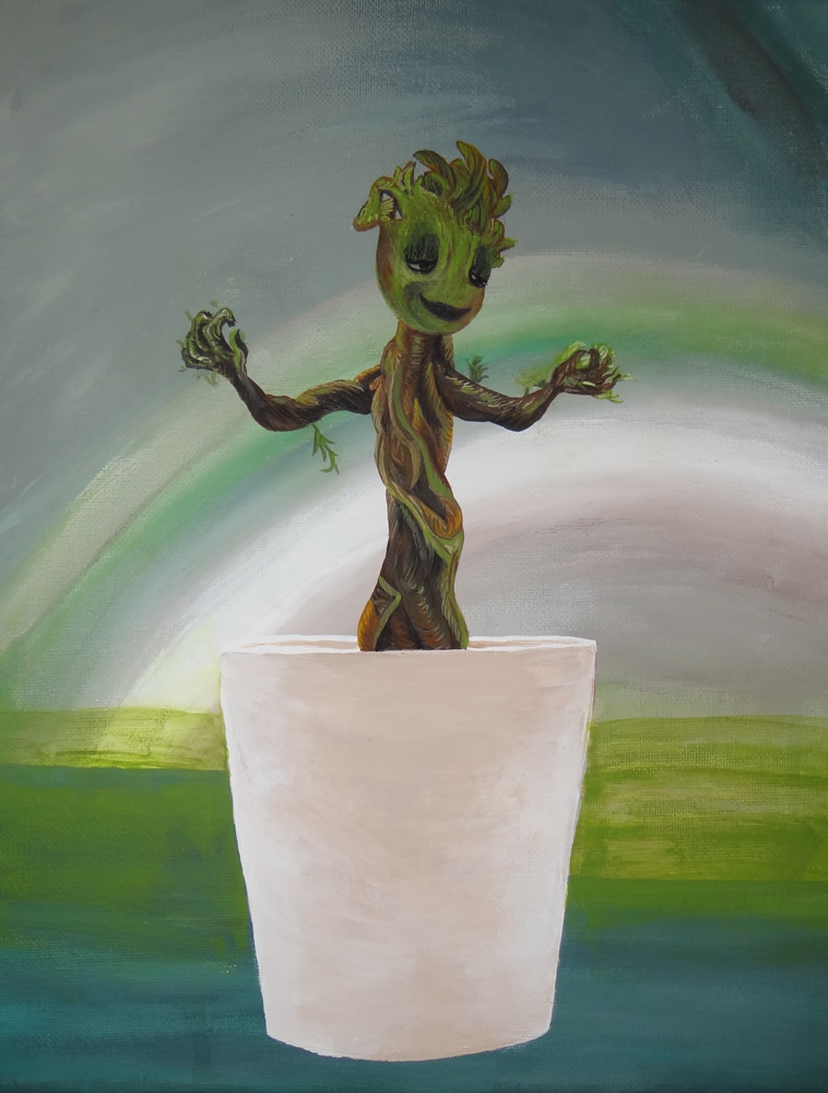 Painting of Baby Groot