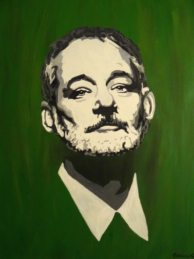 Painting of Bill Murray
