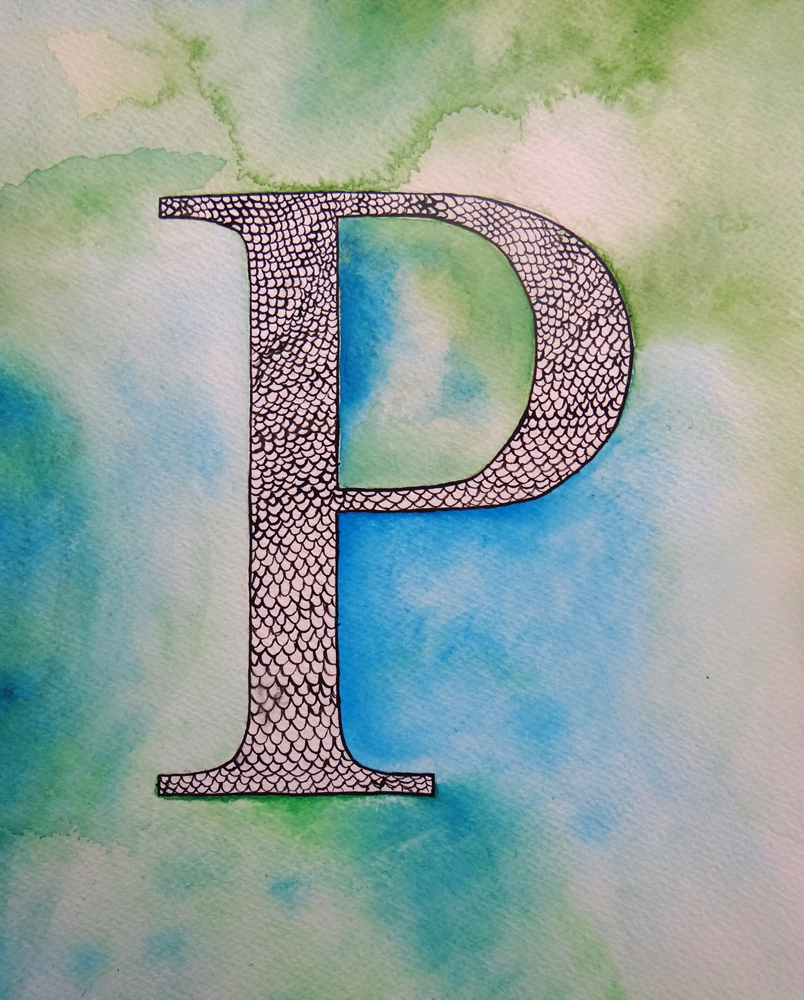 """Letter """"P"""" Painting"""
